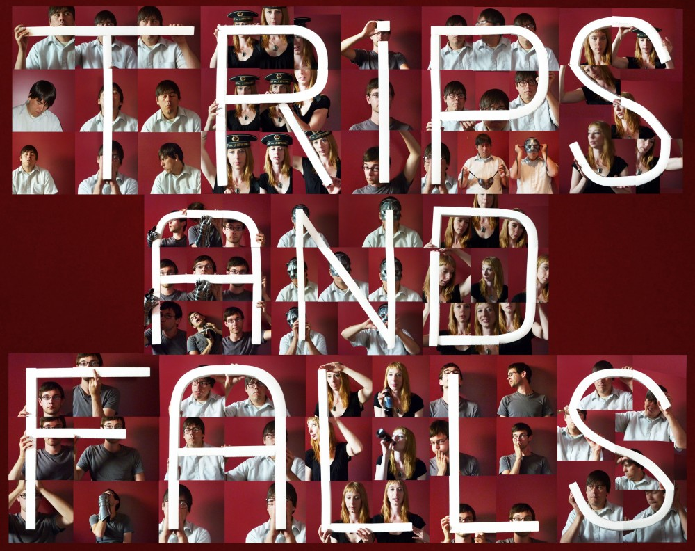 Trips and Falls Collage Logo